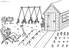 Garden Coloring Pages For Kids Archives New Page