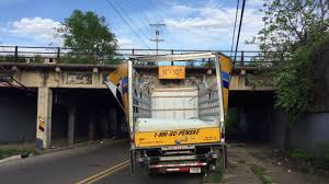 100 Penski Truck Drove Penske Truck Under Bridge And Destroyed It YouTube