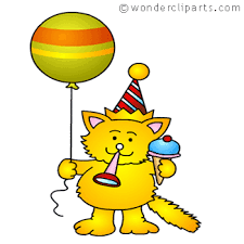 Clipart Birthday Cake With A Cat