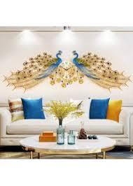 wohnkultur europäische pfauen wand uhr wohnzimmer