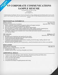 Corporate Communications Resume Sample
