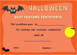 Halloween Potluck Signup Sheet by Halloween Costume Certificates With Best Designs And Halloween