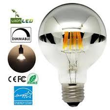 new led half chrome edison vintage light bulbs with mirror 6w g80