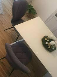 lutz 2 x stühle stuhl grau anthrazit schwarz neuwertig