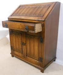 oak writing bureau furniture oak writing bureau desk by charm sold