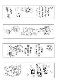 Mothers Day Bookmark Coloring Page