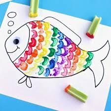 Rainbow Fish Art Craft For Kids