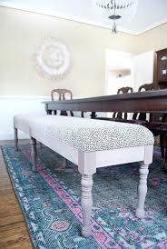 Upholstered Dining Room Bench Best Extra Long Ideas On