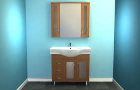 simple bathroom decoration using light blue bathroom wall paint