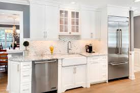 Lush Home White Kitchen Stainless E Kitchens With Appliances Wallpaper Dining Shabby Chic Style Large Fencing Builders Furniture Refinishing