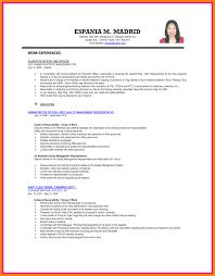Resume Format Sample Ojt