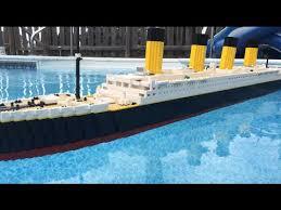 floating lego titanic model 7 foot model youtube