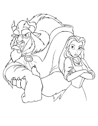Belle Mad At Beast Coloring Page