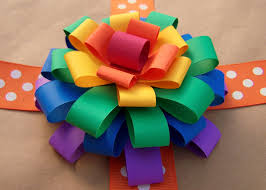 Older And Wisor How To Make A Loopy Paper Flower Bow Gift Finish Er Off Thing