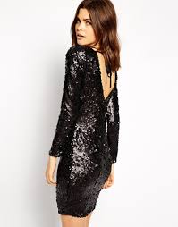lipsy all over sequin dress with cowl back dress pinterest
