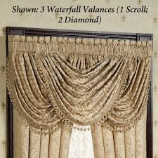 Cheap Waterfall Valance Curtains by Newcastle Damask Comforter Bedding
