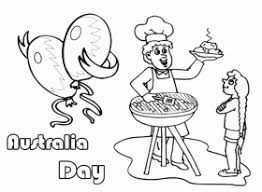 Happy Australia Day Barbecue Coloring Pages