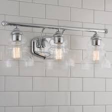 modern ridged shade bath light 3 light shades of light