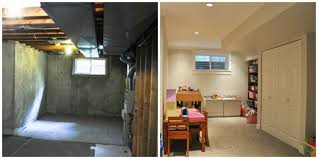Unfinished Basement Before And After Nice BeforeAfter
