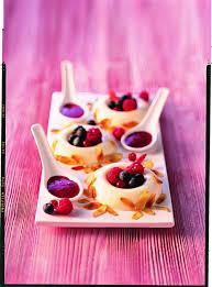 dessert aux fruits rapide recette blanc manger et coulis de fruits rouges