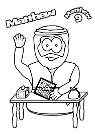 Matthew The Tax Collector Coloring Page With