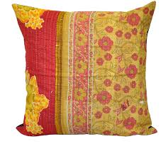24 Living Room Kantha Pillows Bohemian Outdoor Cushions Toss