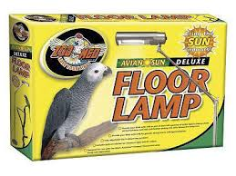 avian deluxe floor l for birds and parrots zoomed lighting