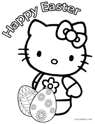 Hello Kitty Eggs Coloring Pages Free Easter Pdf Full Size