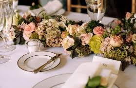 White And Blush Flower Garland For Head Table Francoise Weeks