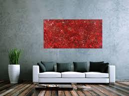 abstraktes acrylbild rot gold modern zeitgenössisch expressionistisch