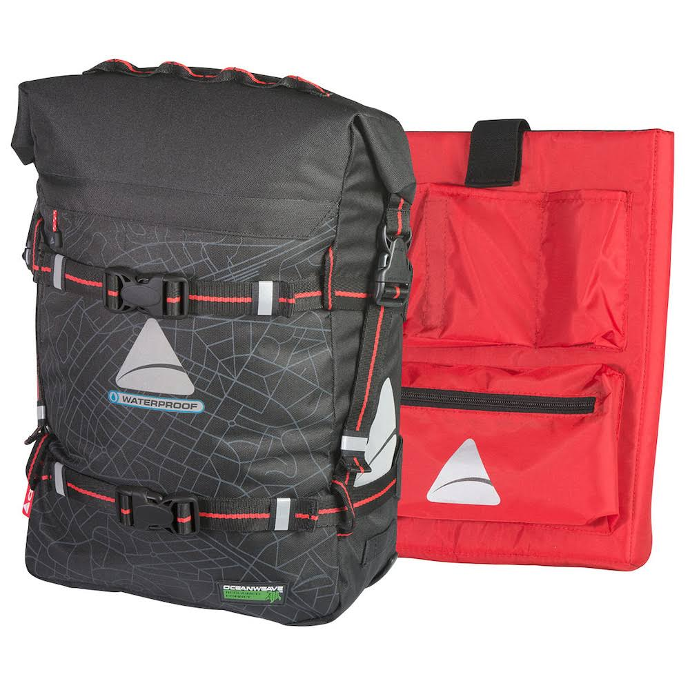Axiom Monsoon Oceanweave Pannier Bag - Black