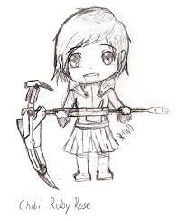 Chibi Ruby Rose Sketch By ThisNewDude