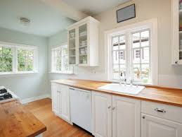 Painting Wood Kitchen Cabinets Ideas Painting Strategies That Make A Small Kitchen Look Larger