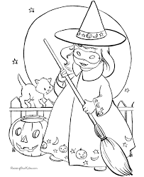 Printable Halloween Witch Coloring Pages