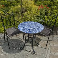 Bar Height Bistro Patio Set by Dining Room Blue Mosaic Bistro Bike Storage Small Apartment