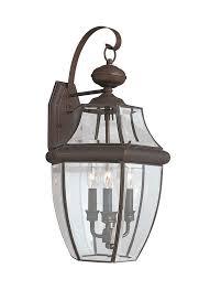 8040 71 three light outdoor wall lantern antique bronze