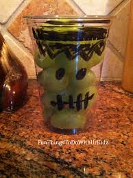 Easy Frankenstein Pumpkin Carving by Frankenstein Grape Cup Easy Quick Snack Halloween Actives