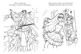 Barbie Popstar Coloring Pages 2603poster