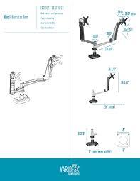 Dual Monitor Standing Desk Attachment by Standing Desks Varidesk