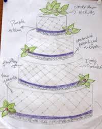 Wedding Cake Design Elements Cymbidium Orchids Wedding Cake Sketch