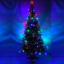 3ft Pre Lit Christmas Tree by 7ft Green Pre Lit Multi Colour Fibre Optic Christmas Tree Colour