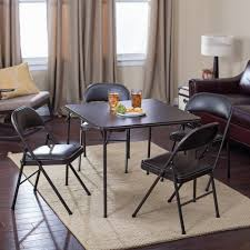 Details About Meco Sudden Comfort Deluxe Double Padded Chair And Back- 5  Piece Card Table Set