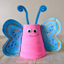 Foam Cup Butterfly Craft