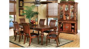 Cindy Crawford Home Key West Tobacco 5 Pc Rectangle Dining Roomwith Slat  Chairs