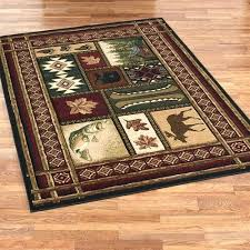 Rustic Area Rugs Cabin Chalet Rectangle Rug Multi Warm