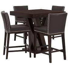 Madero Dark Brown Pub Table & 2 Barstools | Dining Room - Dining ...