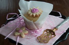 Decorated Shortbread Cookies by Pink Cookie Topper Cupcake India Tree