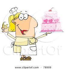 Caucasian Cartoon Cake Baker Woman by Hit Toon