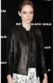 rocha black leather jacket