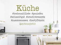 wandtattoo küche mit hashtags wandtattoo de
